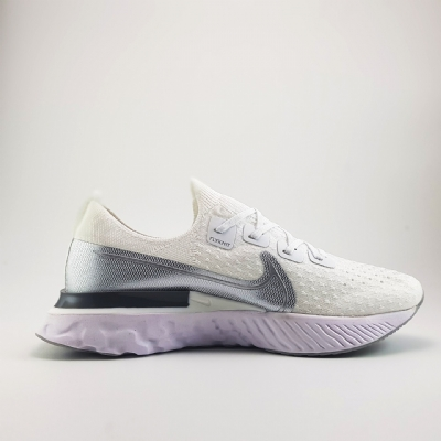 Giày Nike Epic React Infinity Run Flyknit True White Silver