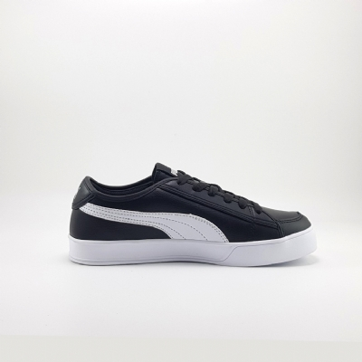 Giày Sneaker Puma Smash V2 Vulc Leather Black White